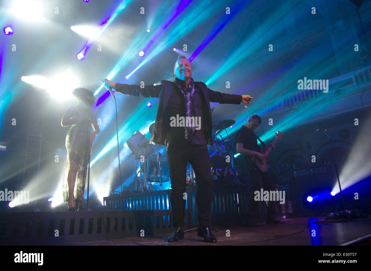 Simple Minds perform at Hull City Hall  Featuring: Jim Kerr Where: Hull, East Yorkshire, United Kingdom When: 27 - Stock Image