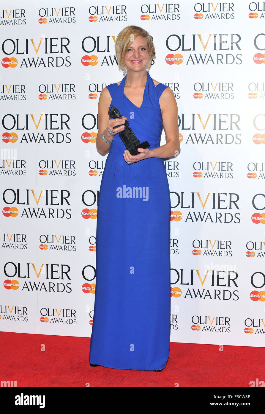 The Olivier Awards held at the Royal Opera House - Pressroom  Featuring: Marianne Elliott Where: London, United - Stock Image