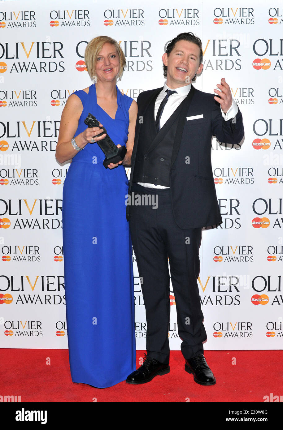 The Olivier Awards held at the Royal Opera House - Pressroom  Featuring: Marianne Elliott,Lee Evans Where: London, - Stock Image