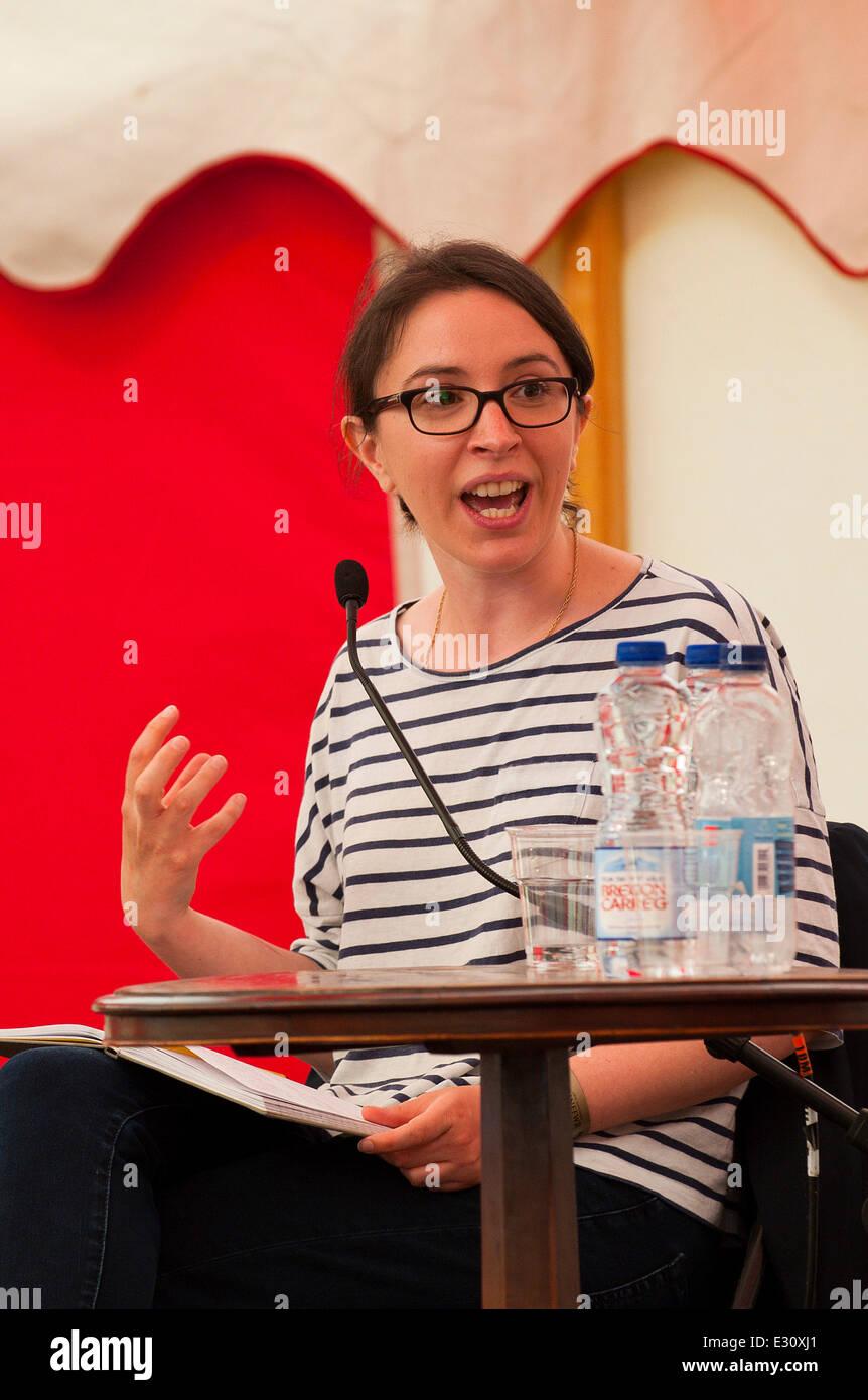 Llandeilo, Carmarthenshire. UK. 21st June,2014. Kat Banyard - author of Equality Illusion and founder of UK feminista - Stock Image