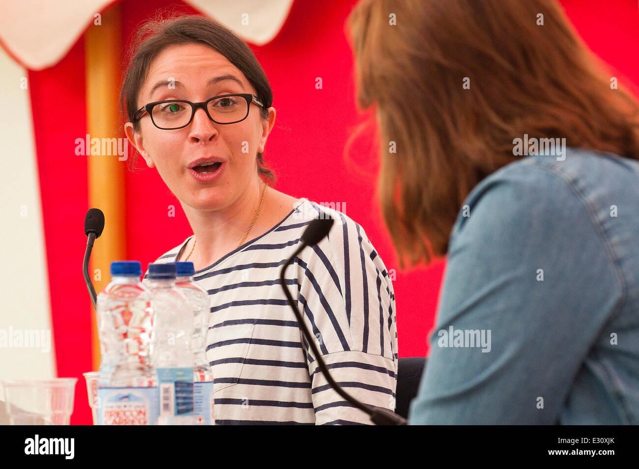 Llandeilo, Carmarthenshire. UK. 21st June,2014. Kat Banyard (L) - author of Equality Illusion and founder of UK - Stock Image