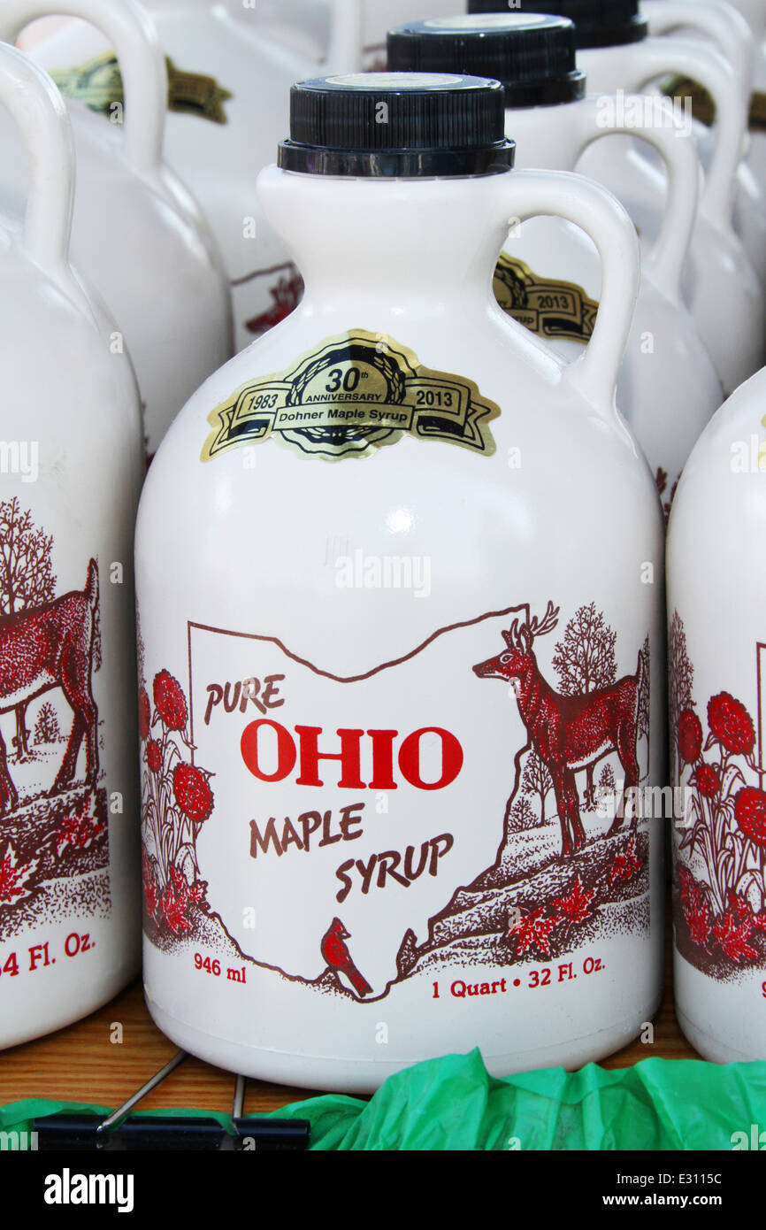Pure Ohio Maple Syrup In 1 Quart Jugs Beavercreek Popcorn Festival Dayton