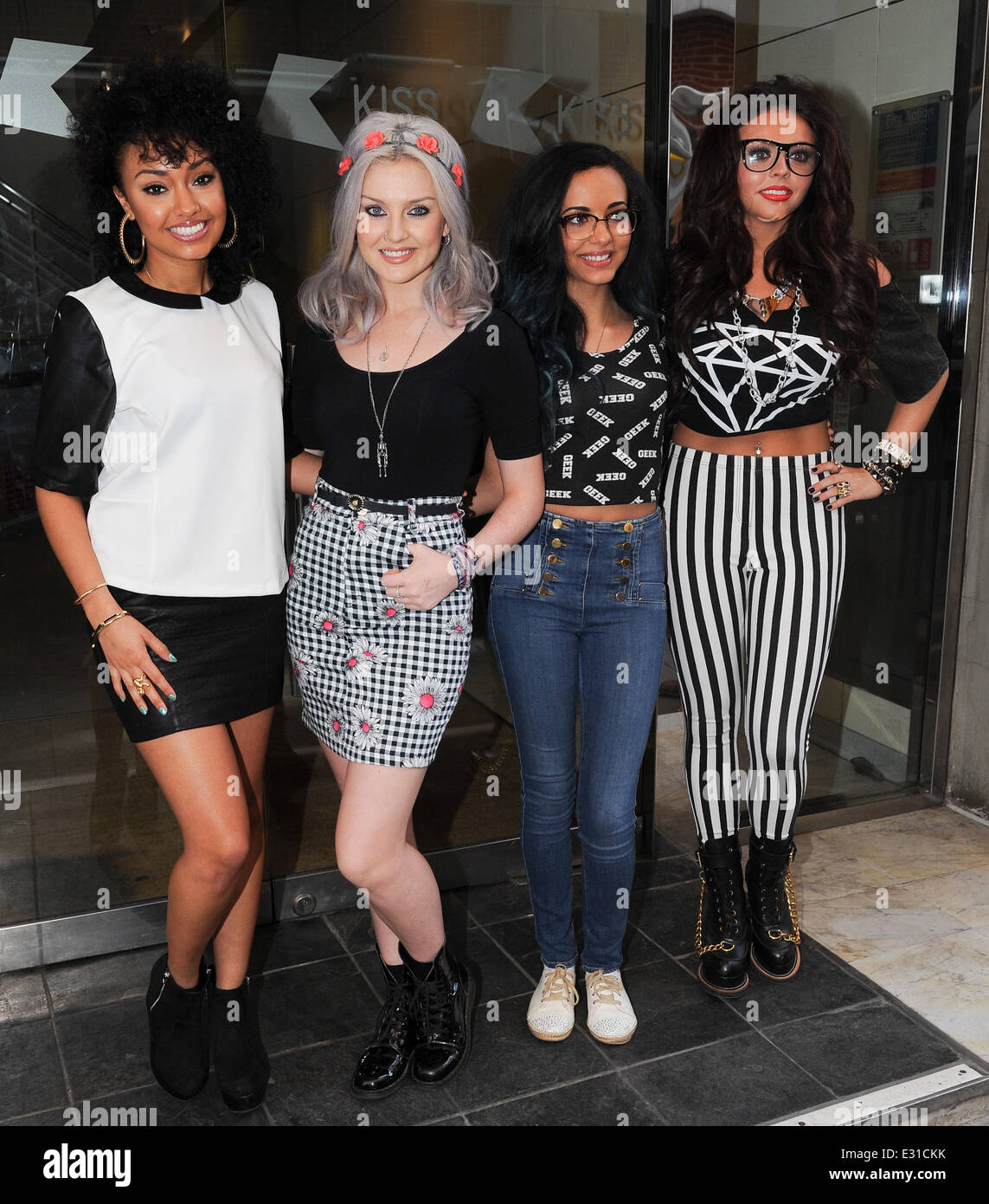 Little Mix At The Kiss Fm Studios Featuring Leigh Anne Stock