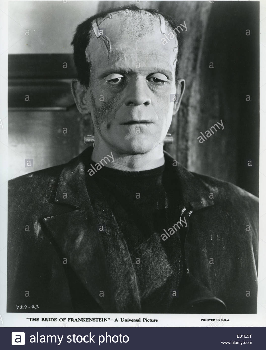 Son of Frankenstein (1939).  Starring Boris Karloff and Bela Lugosi.  Courtesy Granamour Weems Collection. Editorial - Stock Image