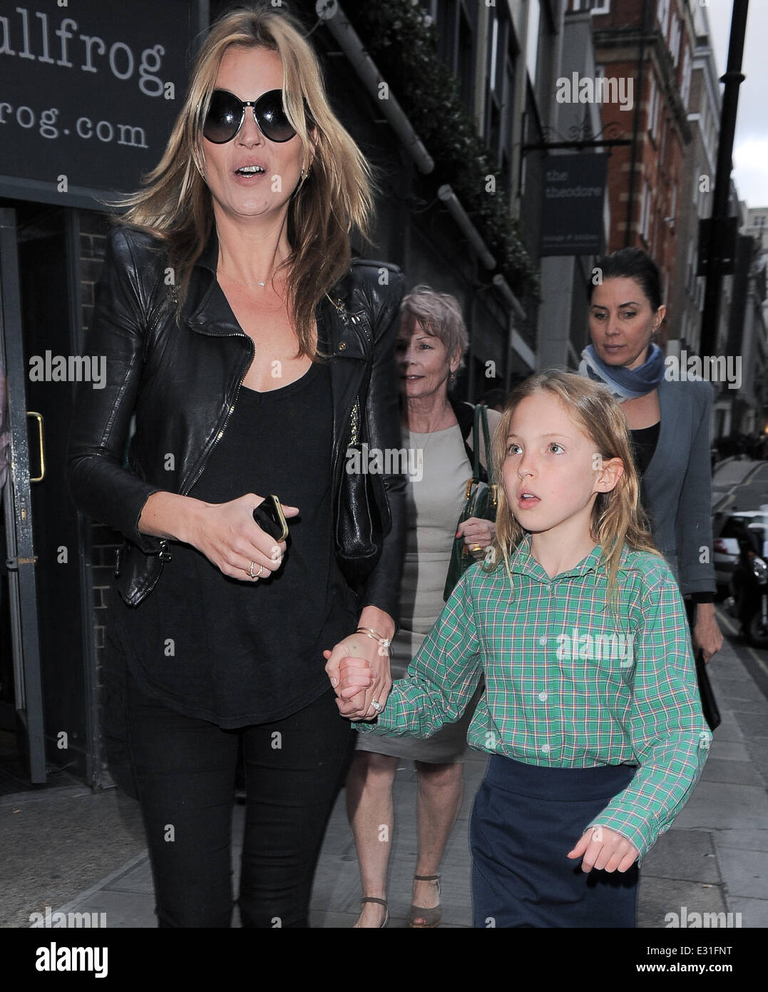 Kate Moss and daughter Lila Grace Moss attend the Debbi Clark's 'An Exhibition of Portraits' at the - Stock Image