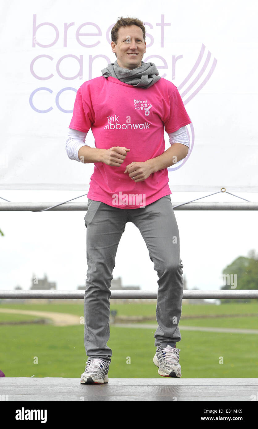 Brendan Cole from 'Strictly Come Dancing' attends the Pink Ribbon Walk at Blenheim Palace  Featuring: Brendan - Stock Image