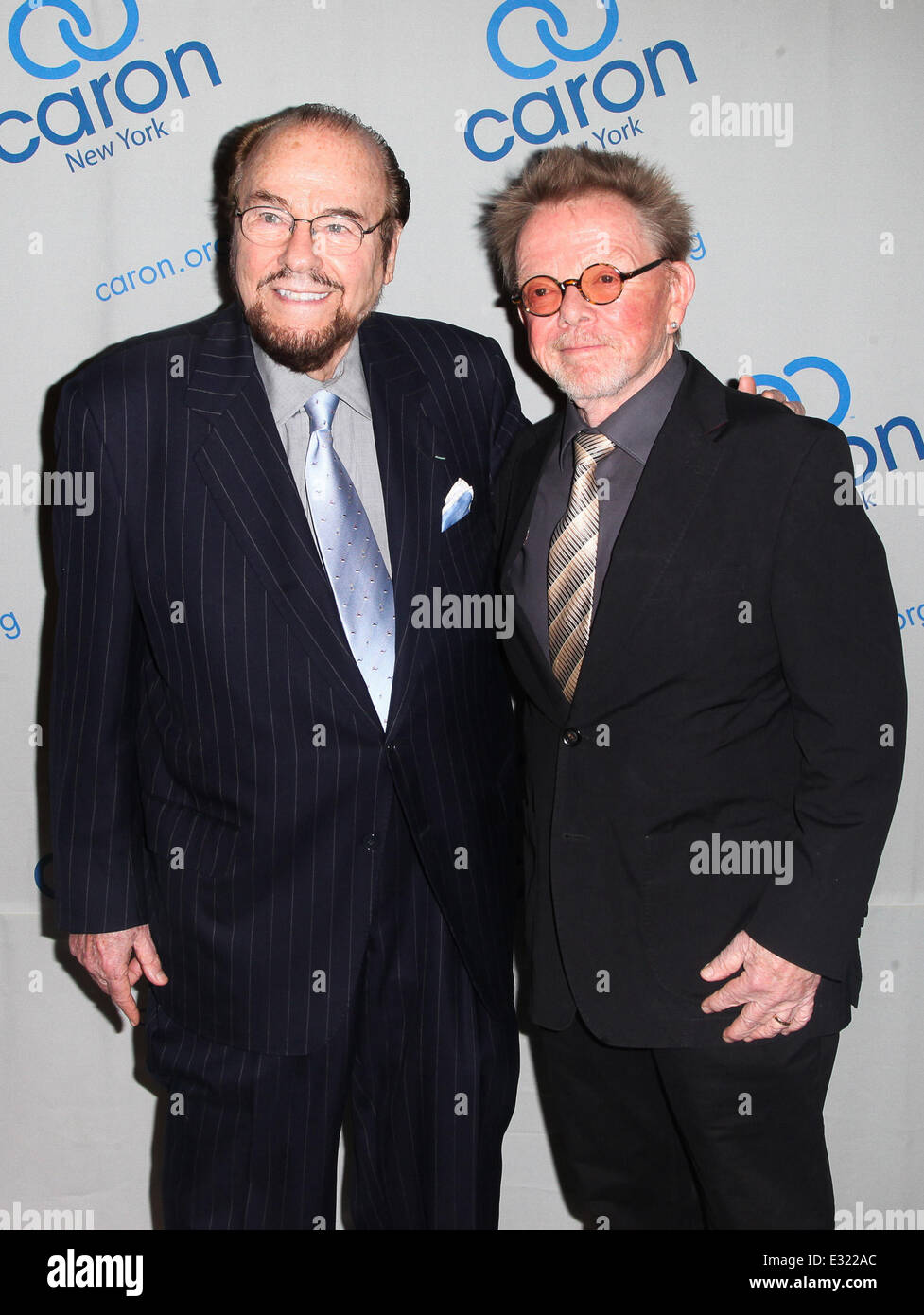Music legend Paul Williams is honoured at the Caron Gala at Cipriani's in New York City  Featuring: James Lipton,Paul - Stock Image