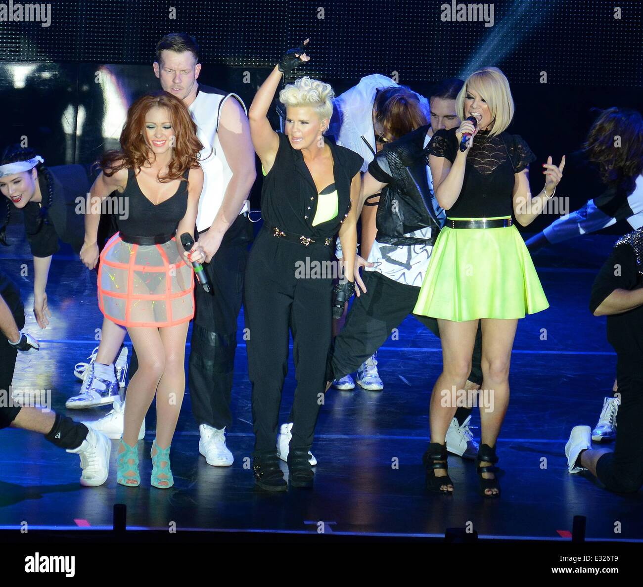 The Big Reunion Tour At The 02 Featuring Natasha Hamilton Kerry Stock Photo Alamy