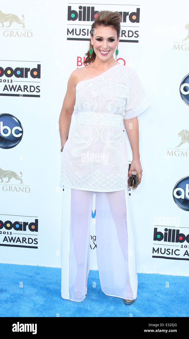 2013 Billboard Music Awards at the MGM Grand Garden Arena - Arrivals  Featuring: Alyssa Milano Where: Las Vegas, - Stock Image
