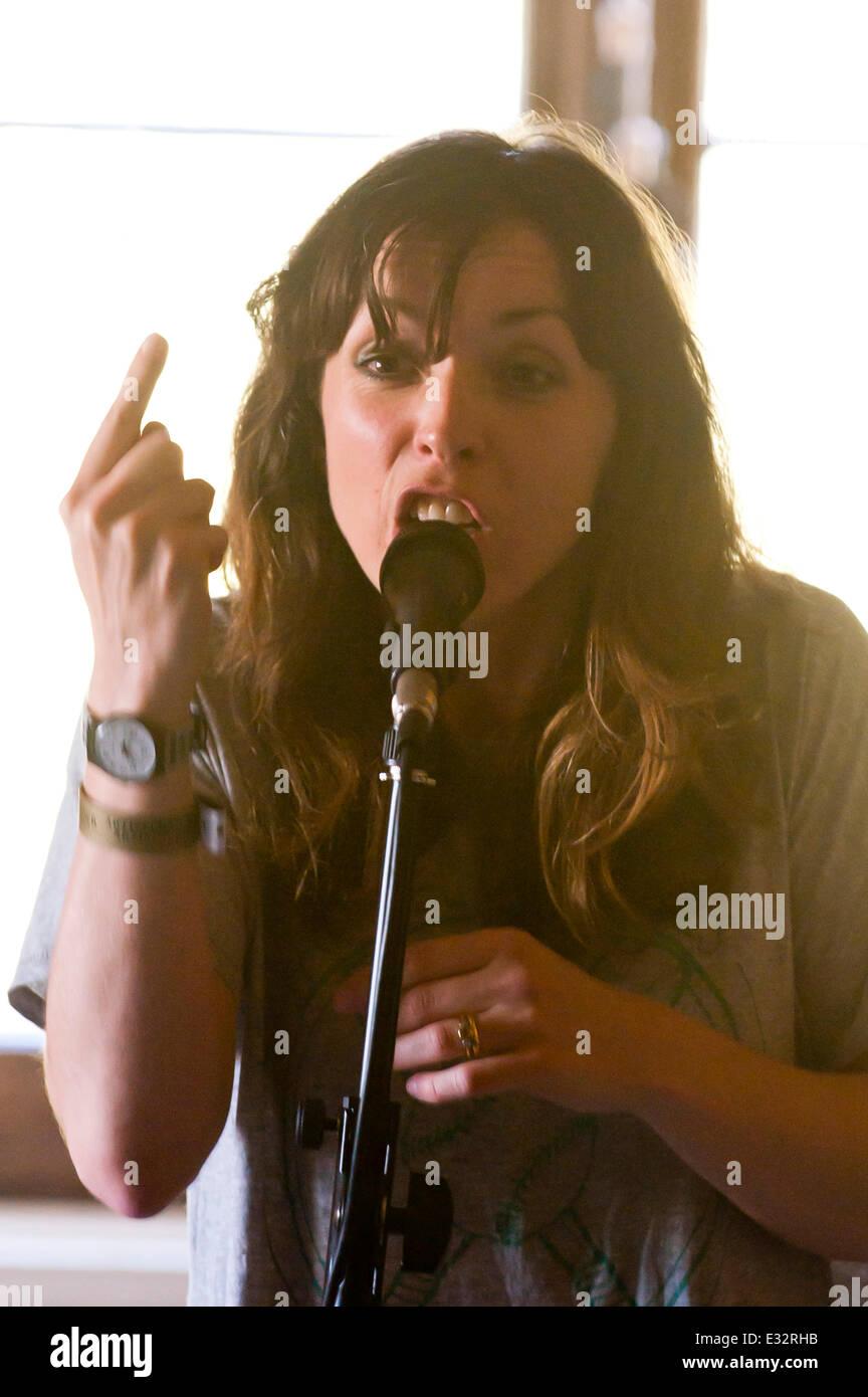 Llandeilo, Carmarthenshire. UK. 21st June,2014. Bridget Christie at the 2014 Dinefwr Literature Festival. Credit: - Stock Image