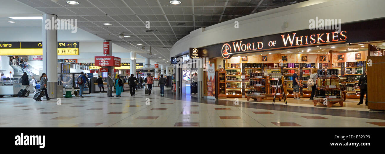 f0de6fa8fba World of Whiskies store at London Gatwick Airport North Terminal departure  lounge and shopping concourse