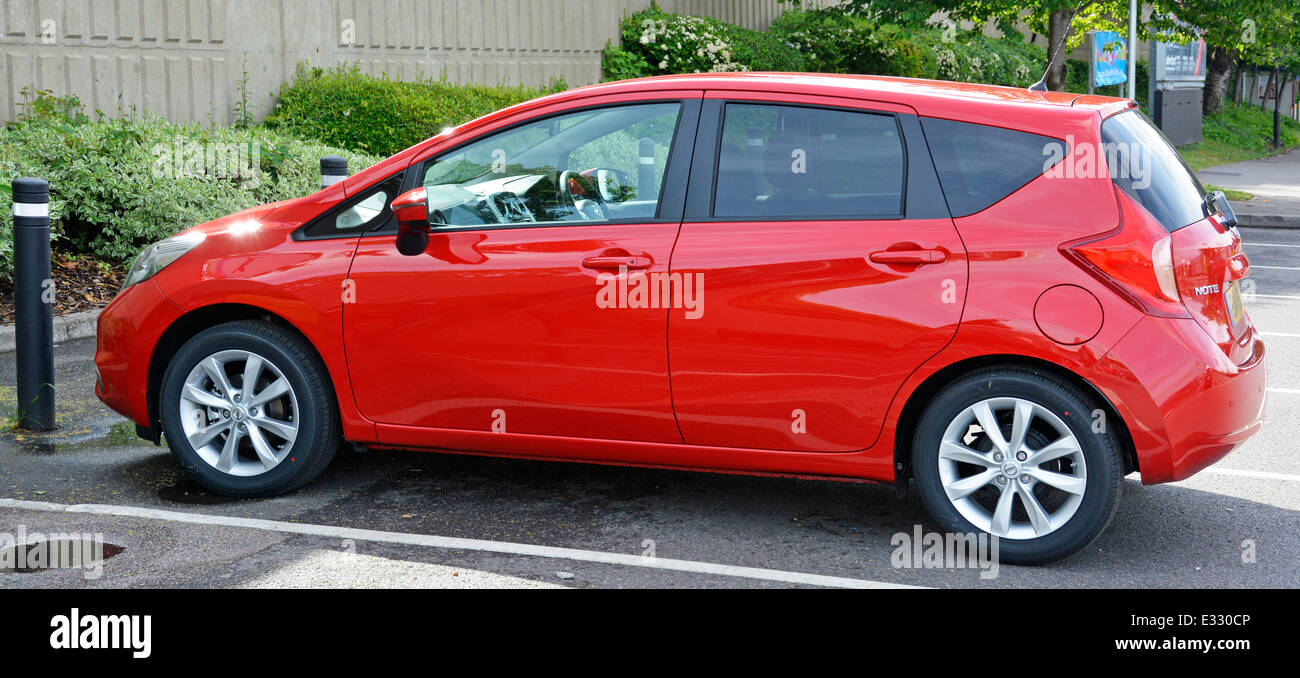 Nissan Note Tekna super mini hatchback car with a 1.2 litre petrol engine - Stock Image