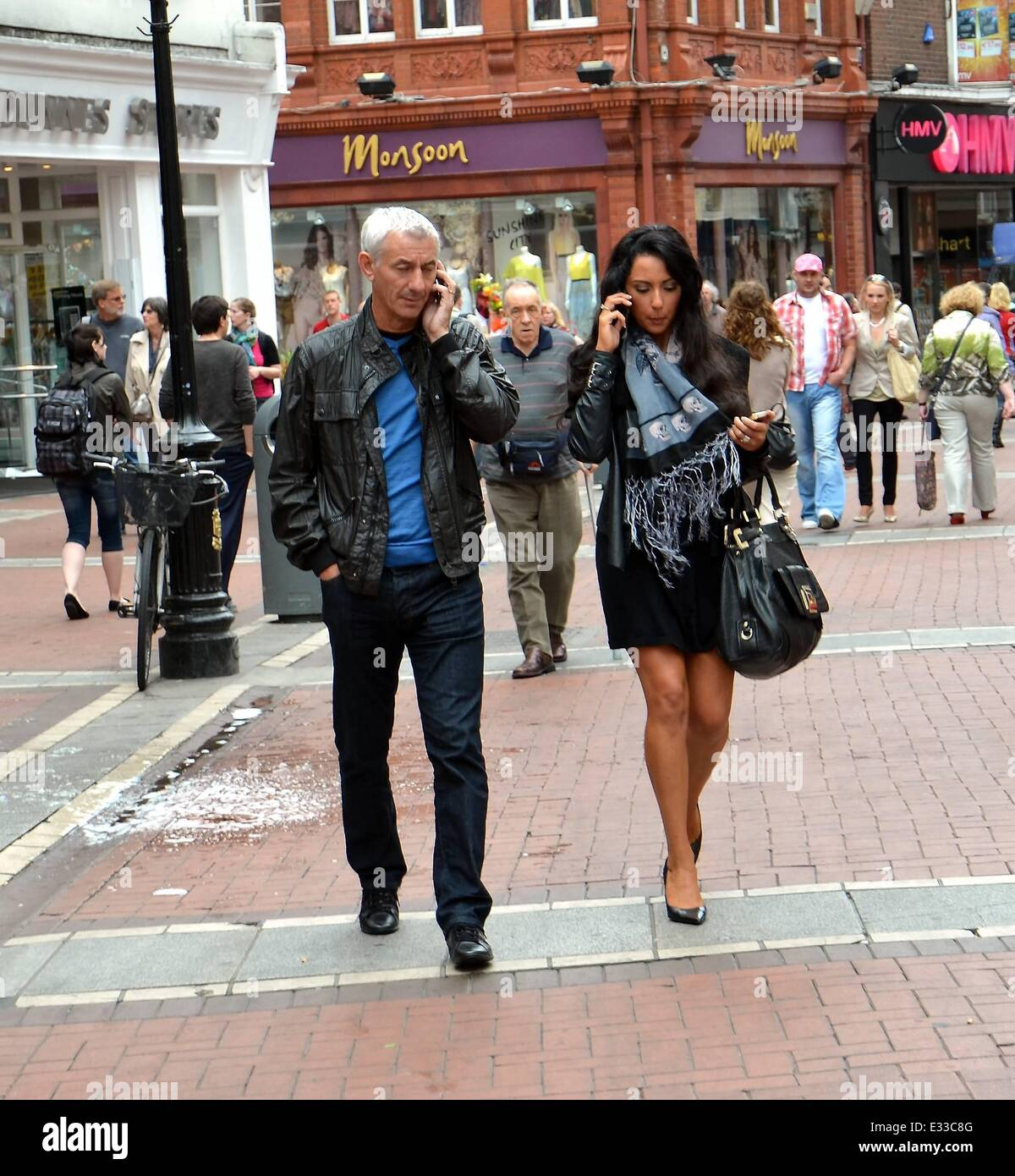Stock Images: **Mystery woman spotted having Dublin lunch with Ian Rush in May 2012 identified as Cork Singer Carol - Stock Image