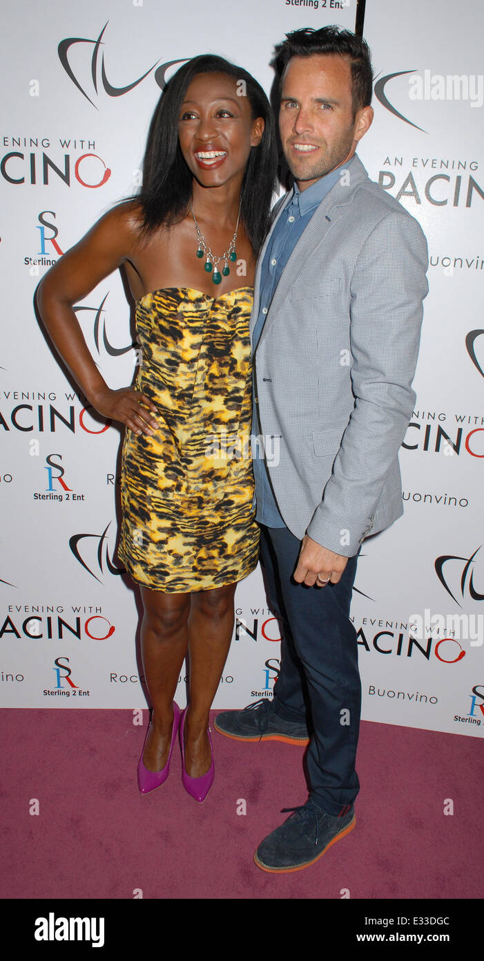 An Evening With Al Pacino at The London Palladium - Inside Arrivals  Featuring: Beverley Knight,James O'Keefe - Stock Image
