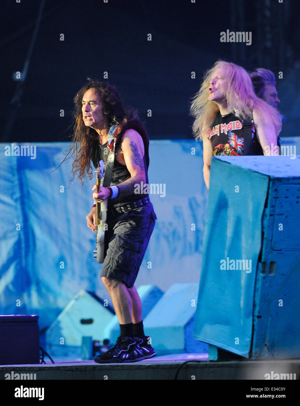 Iron maiden perform at download festival 2013 featuring: steve.