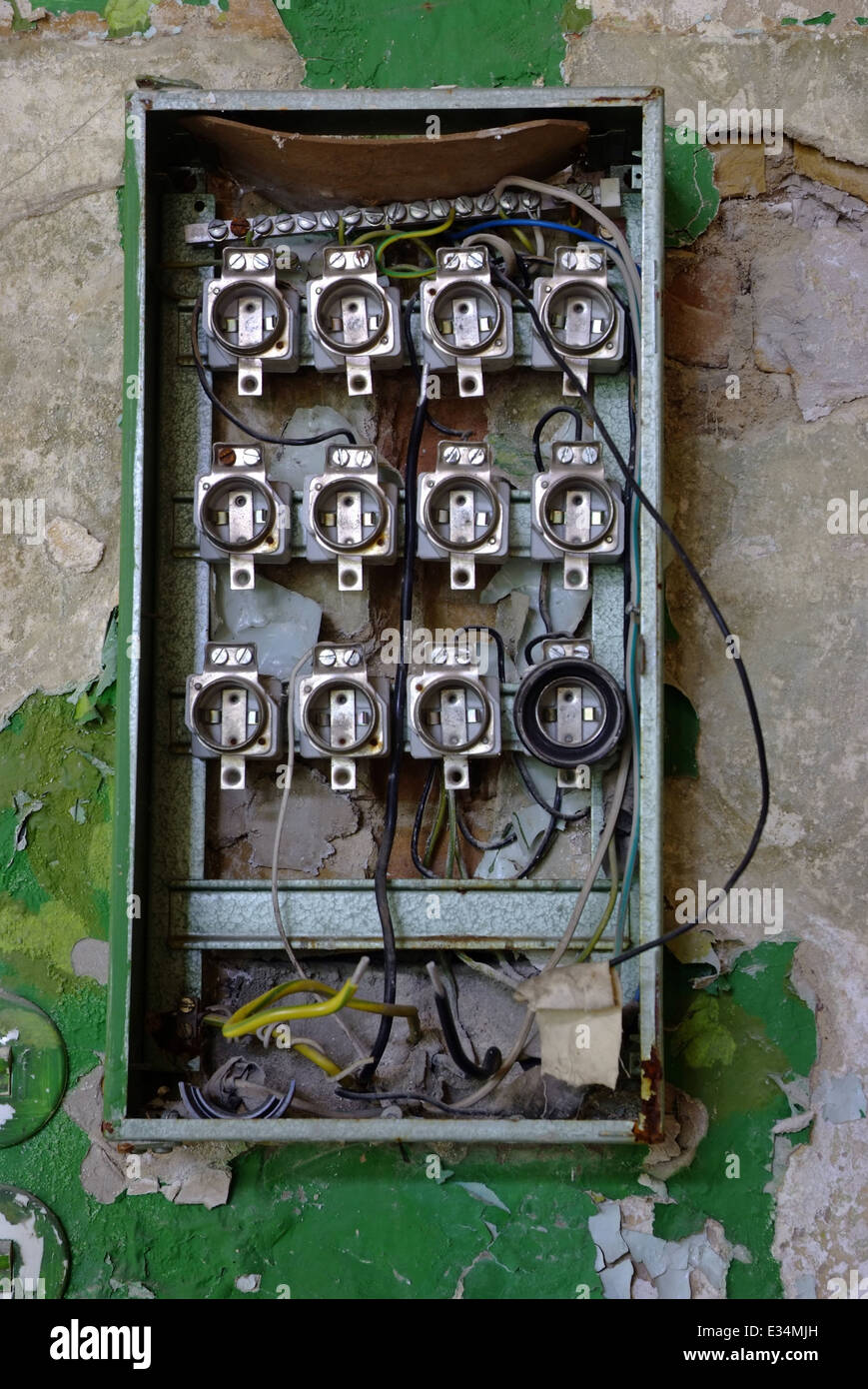 Fuse Box House Stock Photos Images Alamy Old In An Abandoned Image