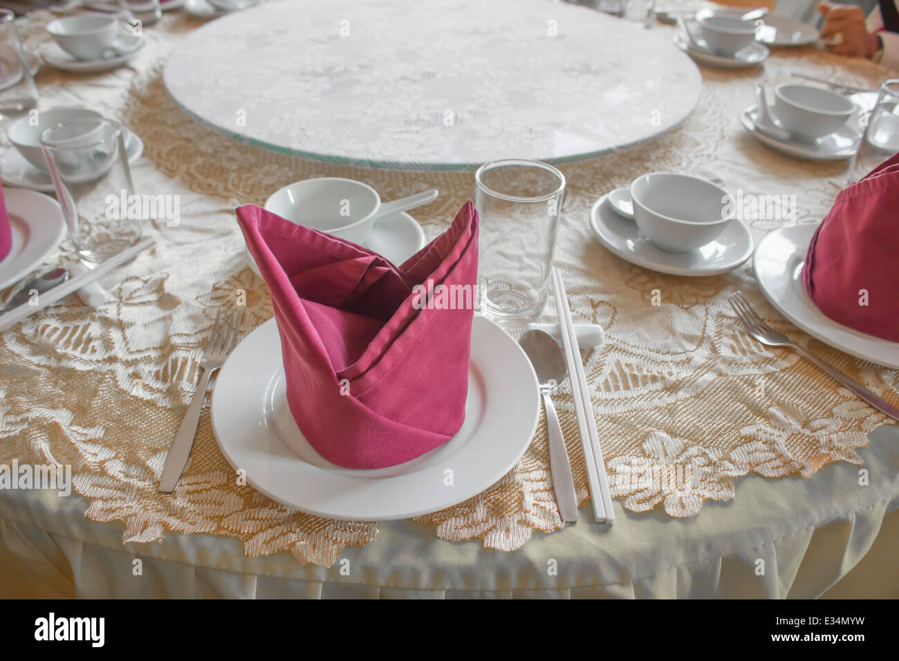 dining table - Stock Image