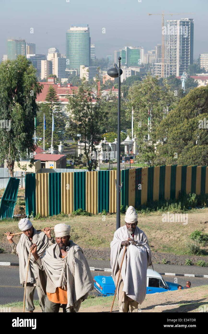 City skyline with Sheraton hotel. Addis Abeba. Ethiopia. - Stock Image