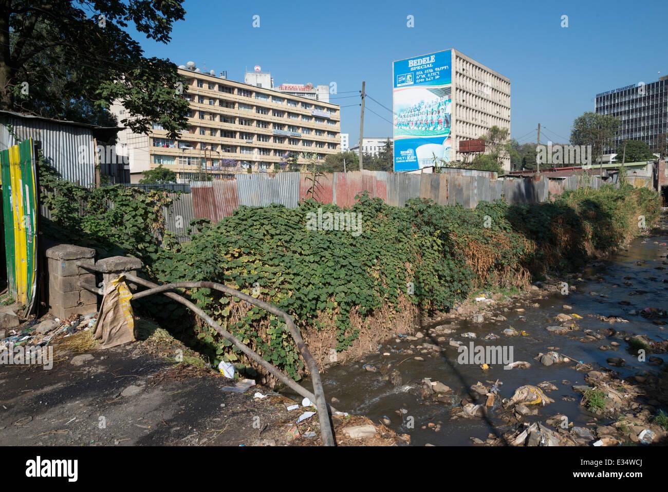 Raw sewage. Addis Abeba. Ethiopia - Stock Image