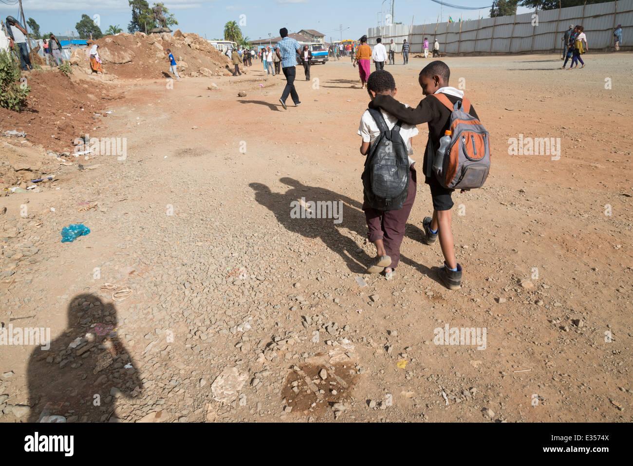 Piazza. Addis Abeba. Ethiopia - Stock Image
