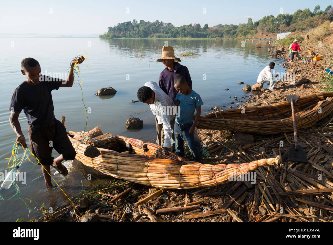 Lake Tana. Afaf. Zege peninsula. Northern Ethiopia. - Stock Image