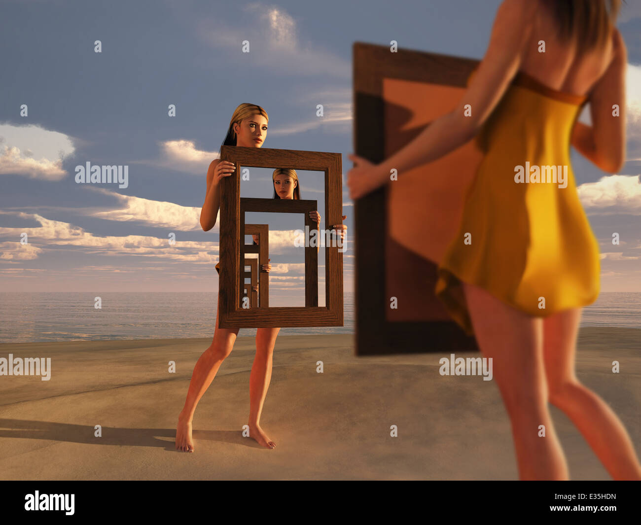 reflection of consciousness - Stock Image