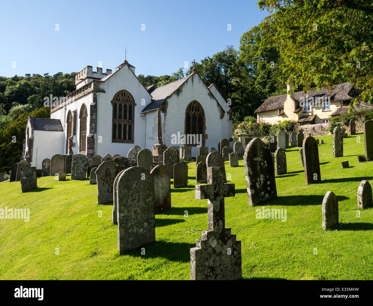 Selworthy church, Somerset, England - Stock Image