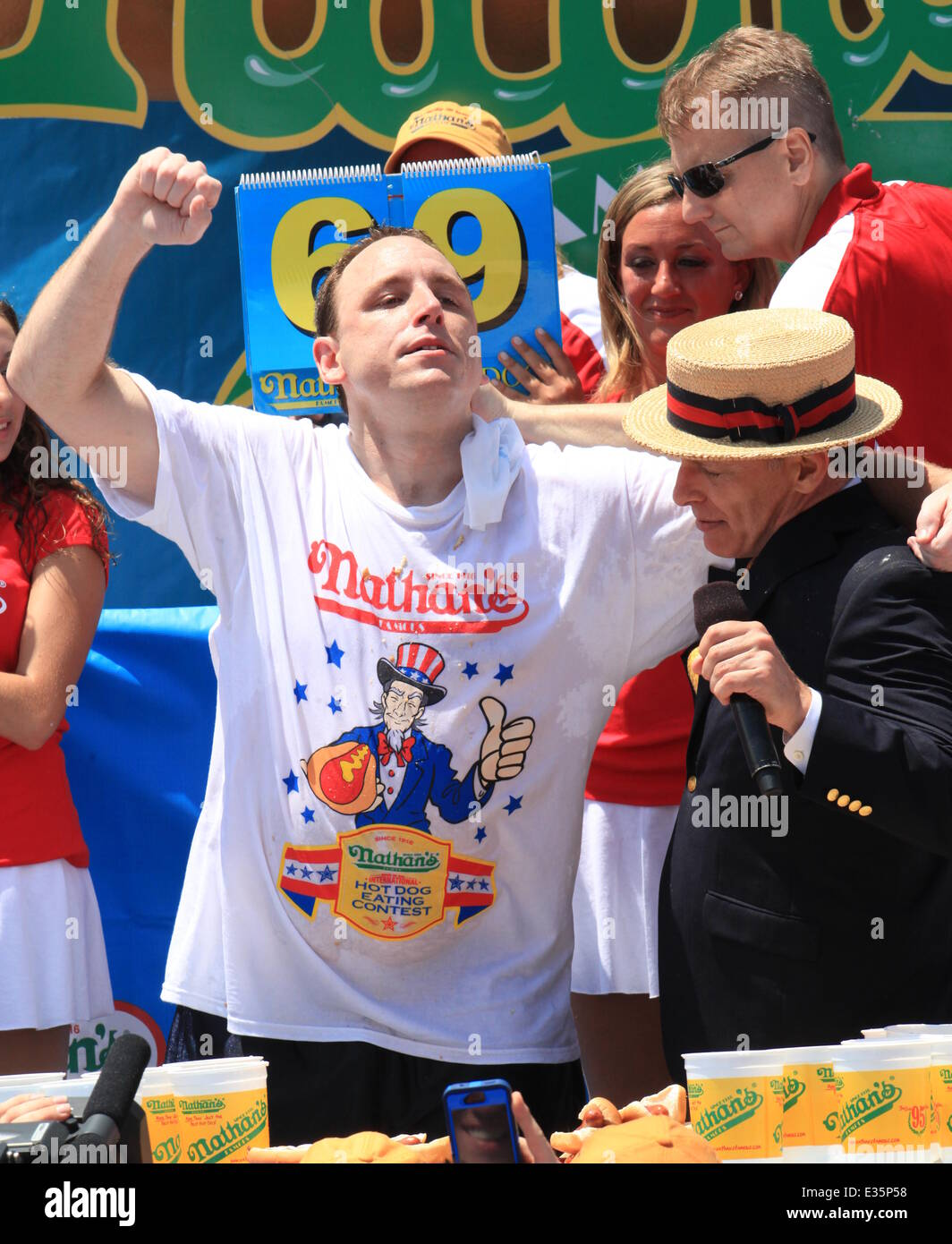 2013 Nathan S Hot Dog Eating Contest Winner Joey Chestnut