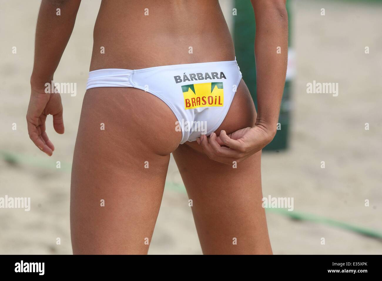 Beach volleyball sand bikini apologise, can