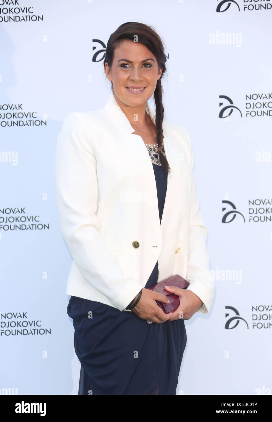 Novak Djokovic Foundation Event held at the Roundhouse - Arrivals  Featuring: Marion Bartoli Where: London, United - Stock Image