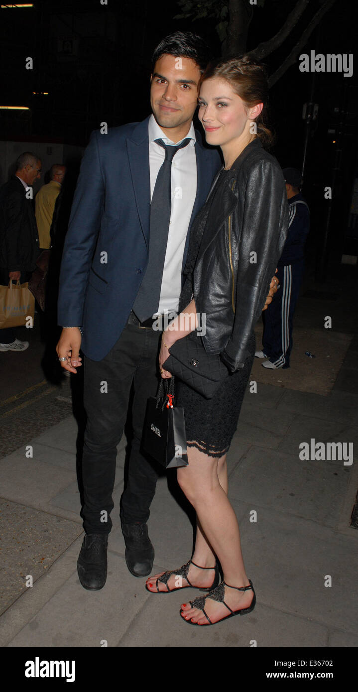 Celebrities attend Lulu Guinness Paint Project Launch Party at The Old Sorting Office  Featuring: Sean Teale Where: - Stock Image