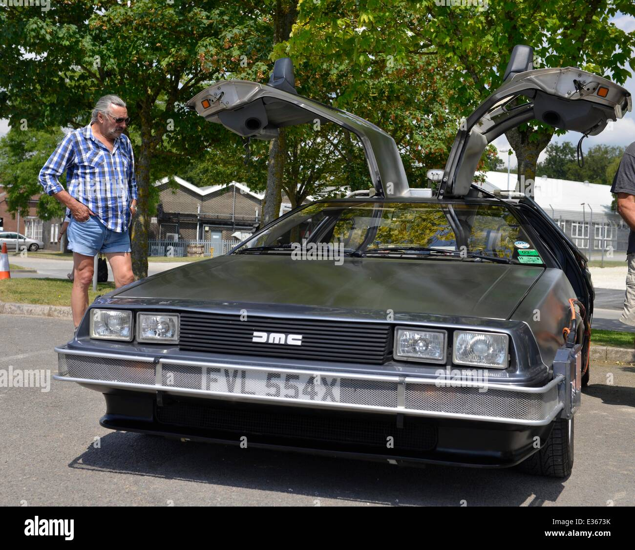 DeLorean cars owners rally, DeLorean classic car DMC-12, Britain. UK ...
