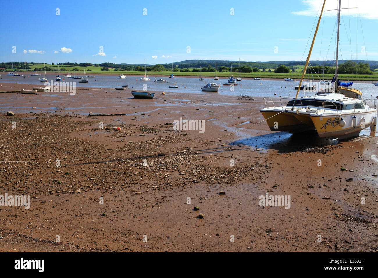 Topsham waterfront, Devon, England, UK - Stock Image