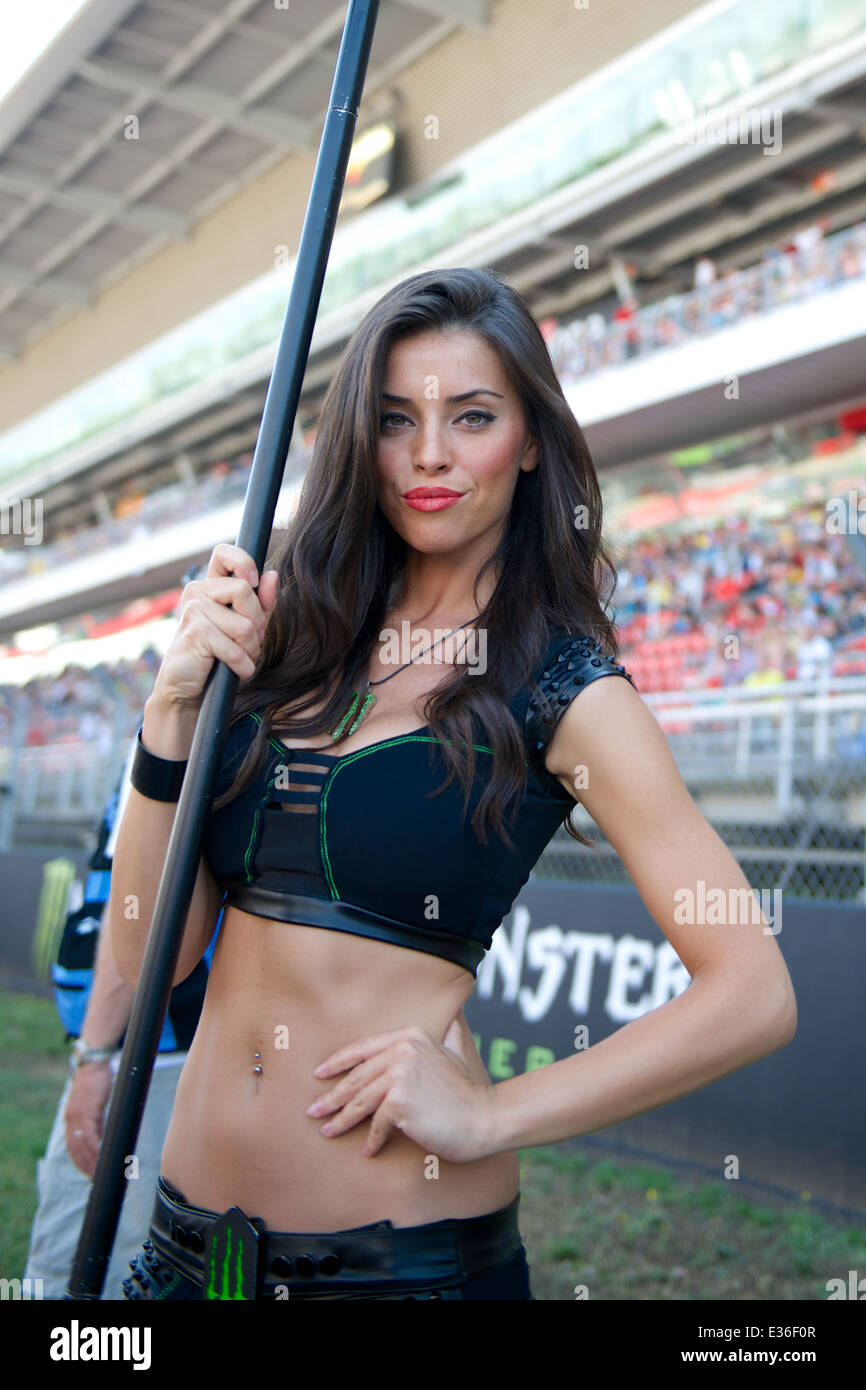 Monster Energy grid girl of the Monster Energy Gran Premi De Catalunya  - Stock Image
