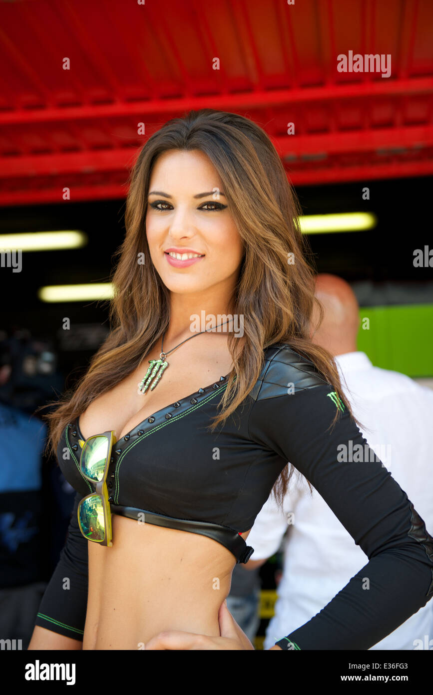Monster Energy grid girl of the Monster Energy Gran Premi De Stock Photo: 70829363 - Alamy