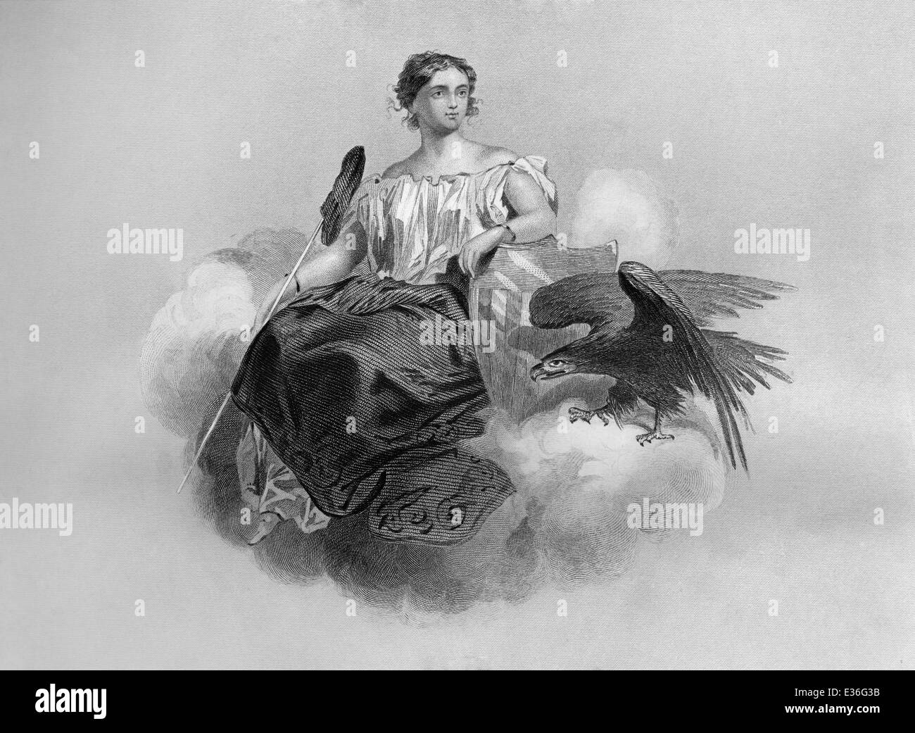 Allegory, United States of America, 19th century, - Stock Image