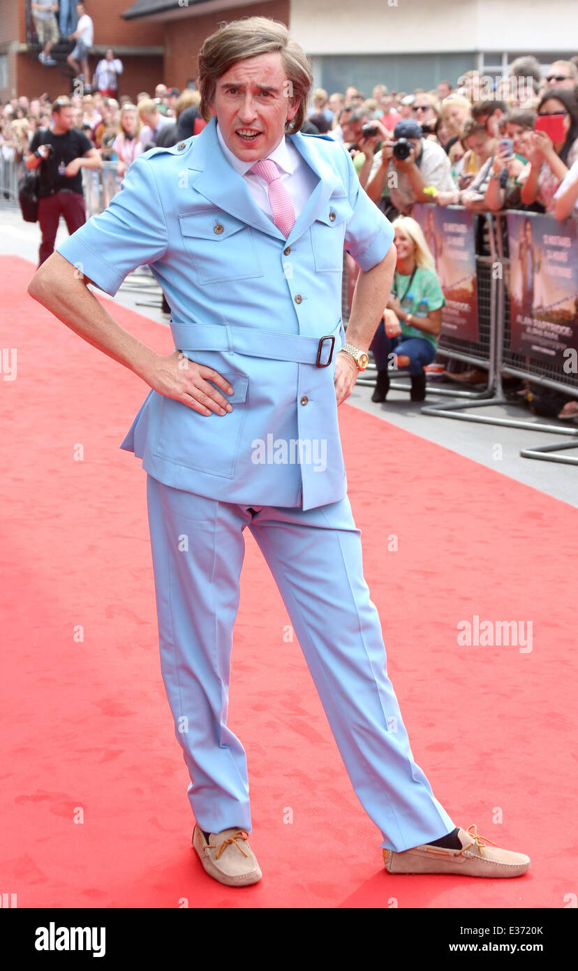 World premiere of 'Alan Partridge: Alpha Papa' in Anglia Square  Featuring: Steve Coogan,Alan Partridge - Stock Image