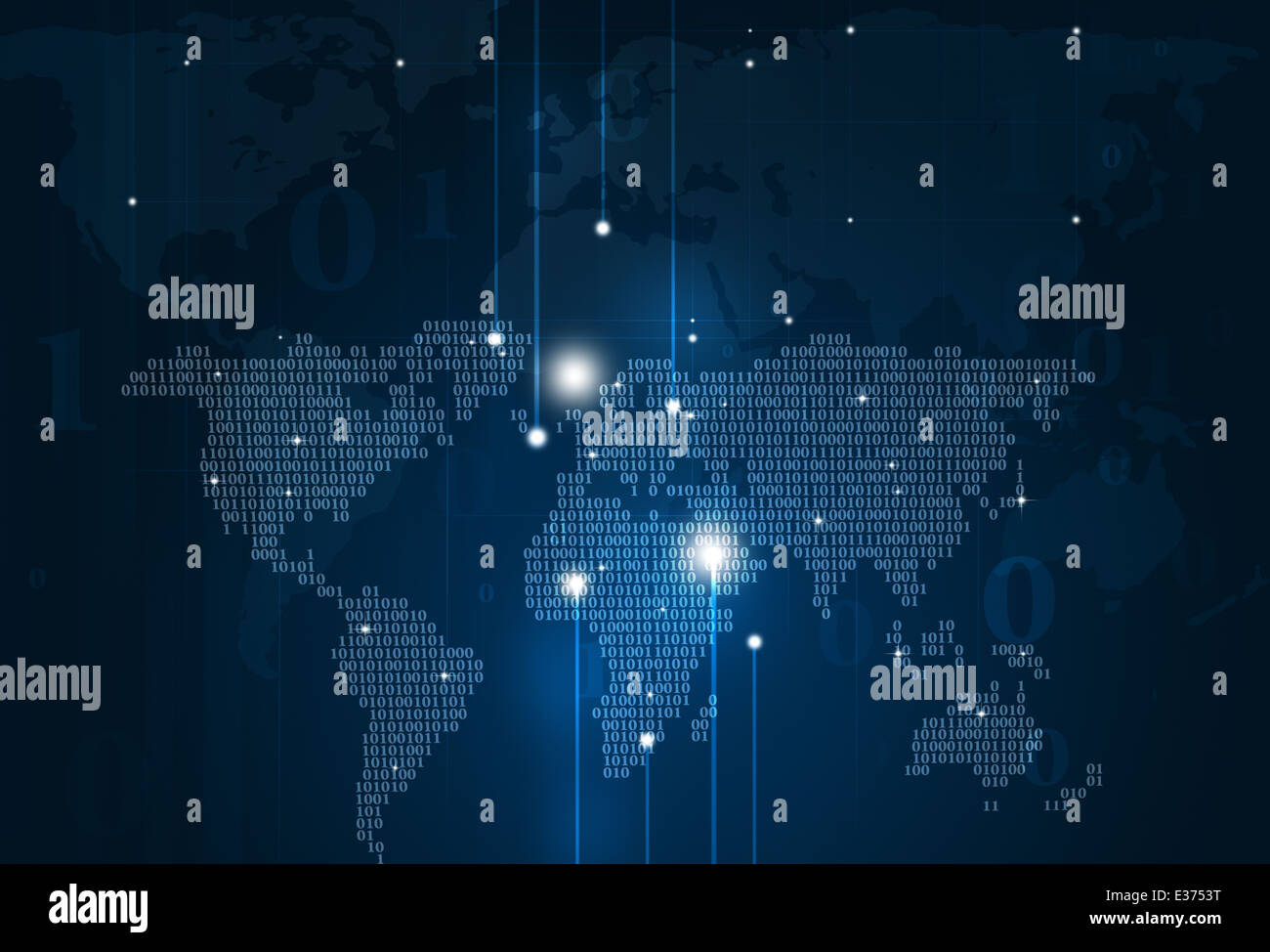 Abstract technology binary code world map on dark blue background abstract technology binary code world map on dark blue background gumiabroncs Gallery