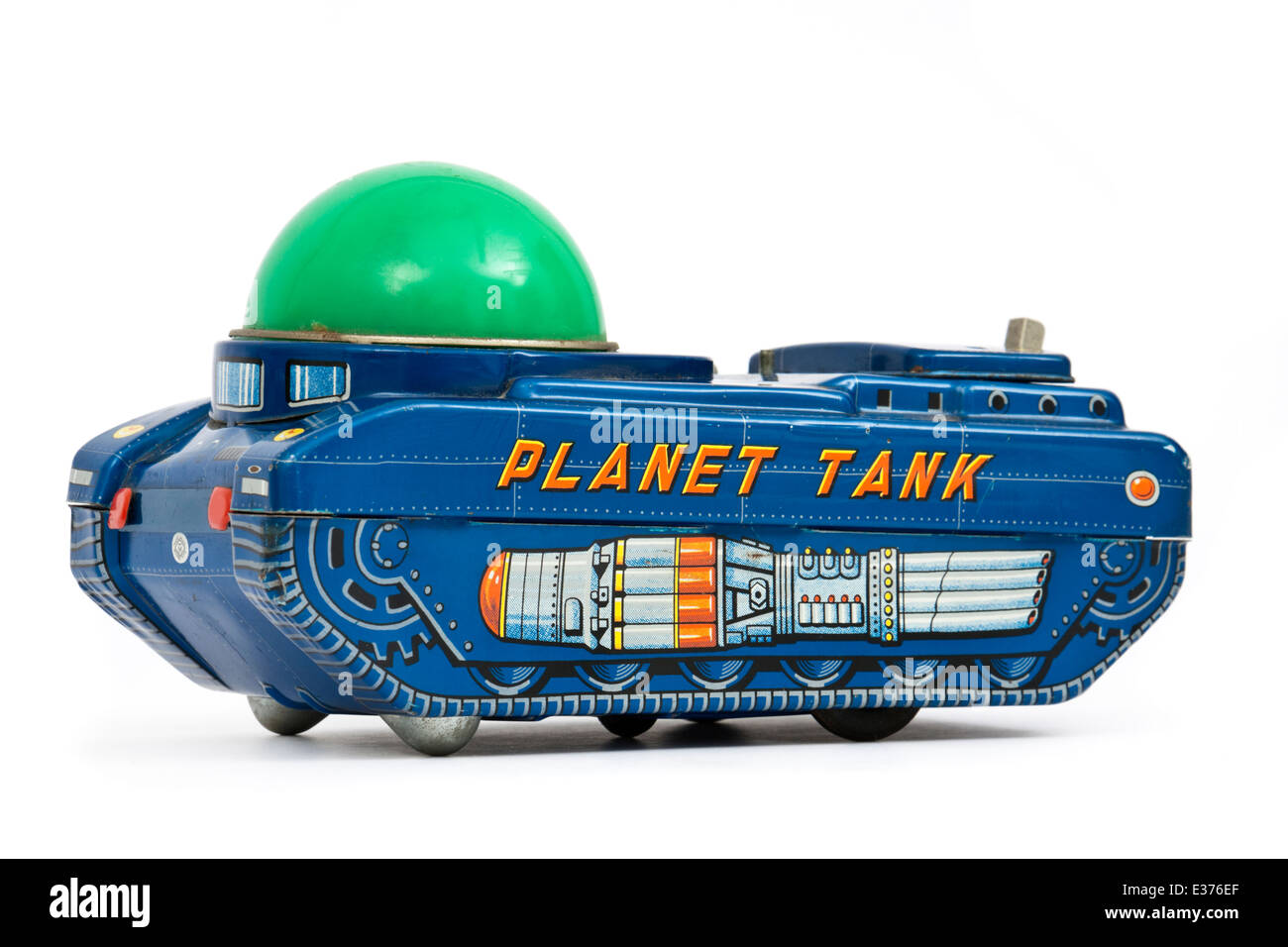 Vintage (1966) Japanese 'Planet Tank' battery-operated tinplate toy by Modern Toys - Stock Image