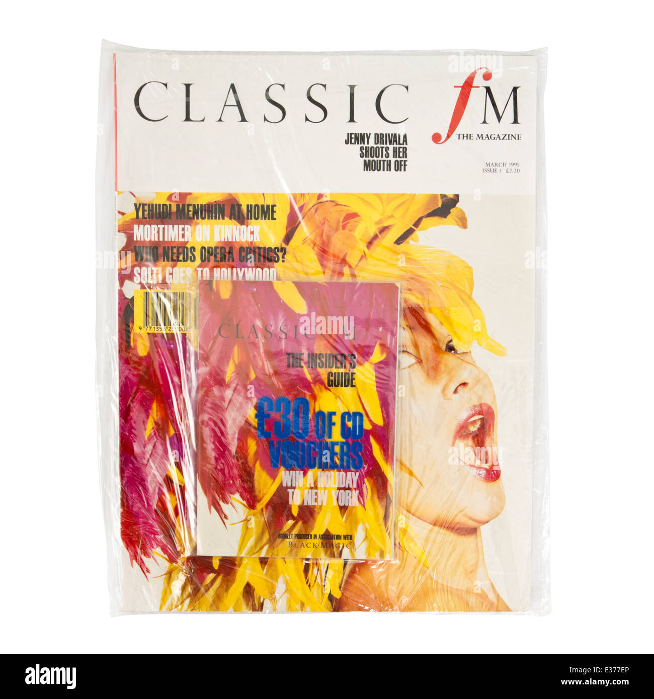 Unopened copy of the very first issue of Classic FM magazine from March 1995. - Stock Image