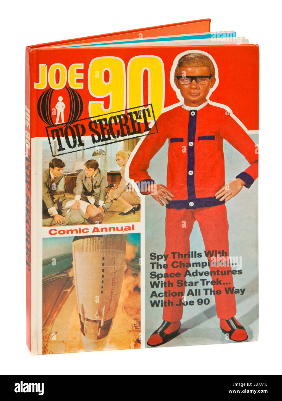 Vintage copy of the 'Joe 90 Top Secret Comic Annual' from 1969. 'Joe 90' was a popular 1960's - Stock Image