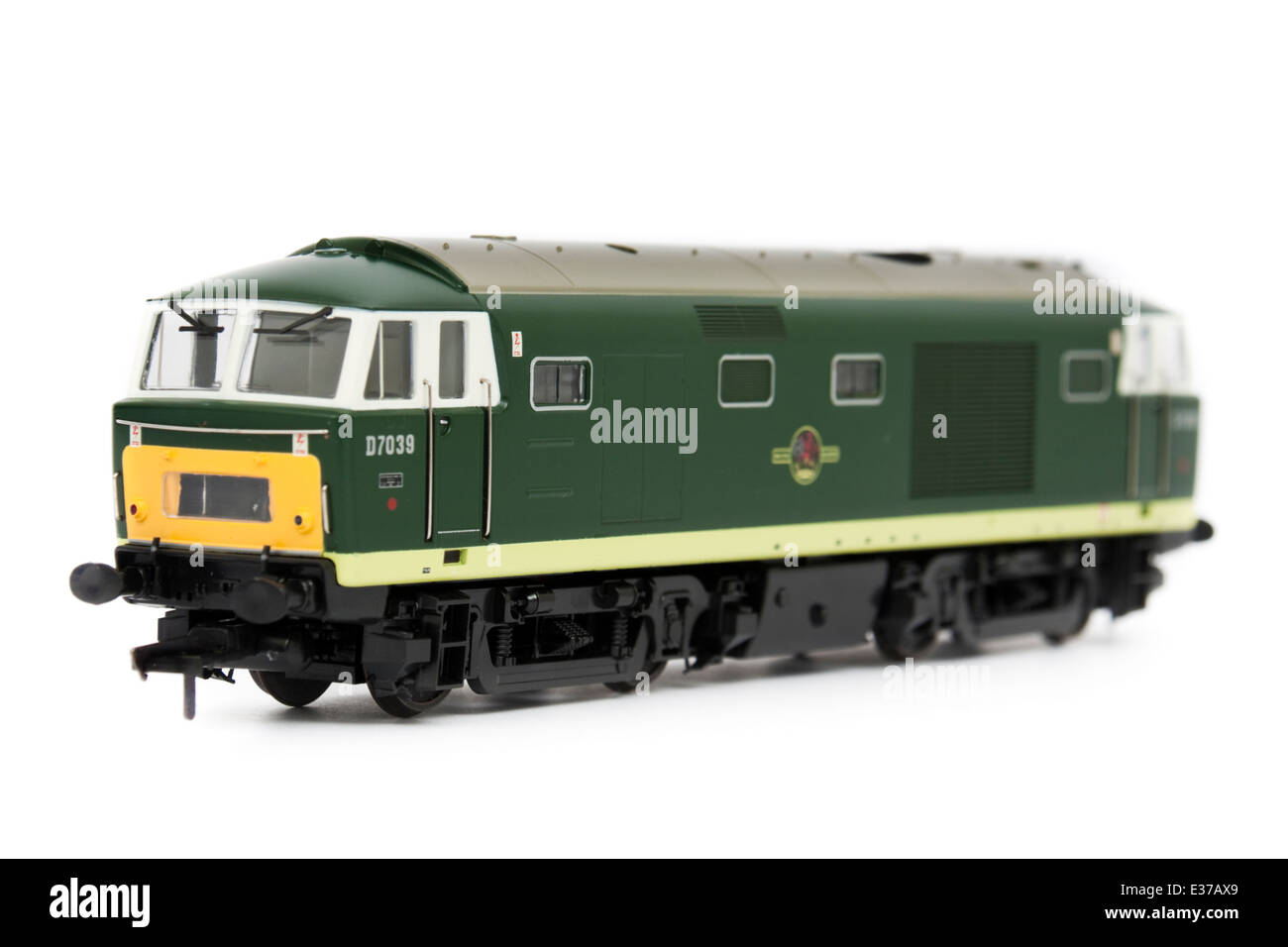 BR Class 35 (D7039) 'Hymek' mixed-traffic B-B diesel locomotive with hydraulic transmission (1:76 scale - Stock Image