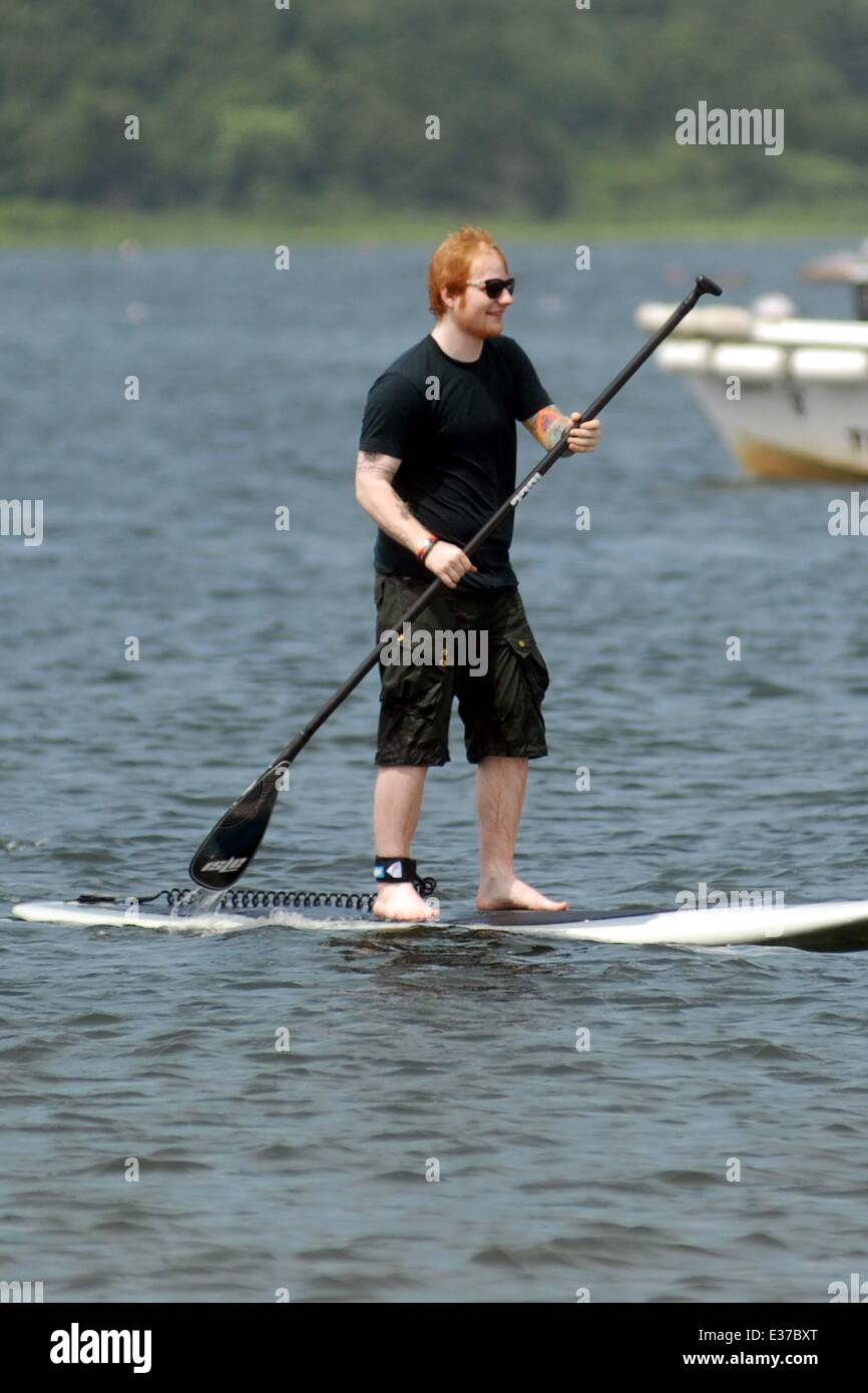 Taylor Swift and her musician pal Ed Sheeran go paddleboarding with