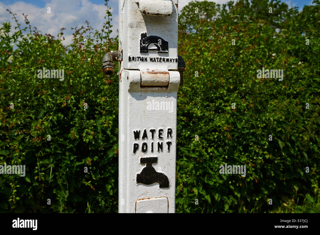 British Waterways Water Point along the canal Foxton Locks Market Harborough Leicestershire UK - Stock Image