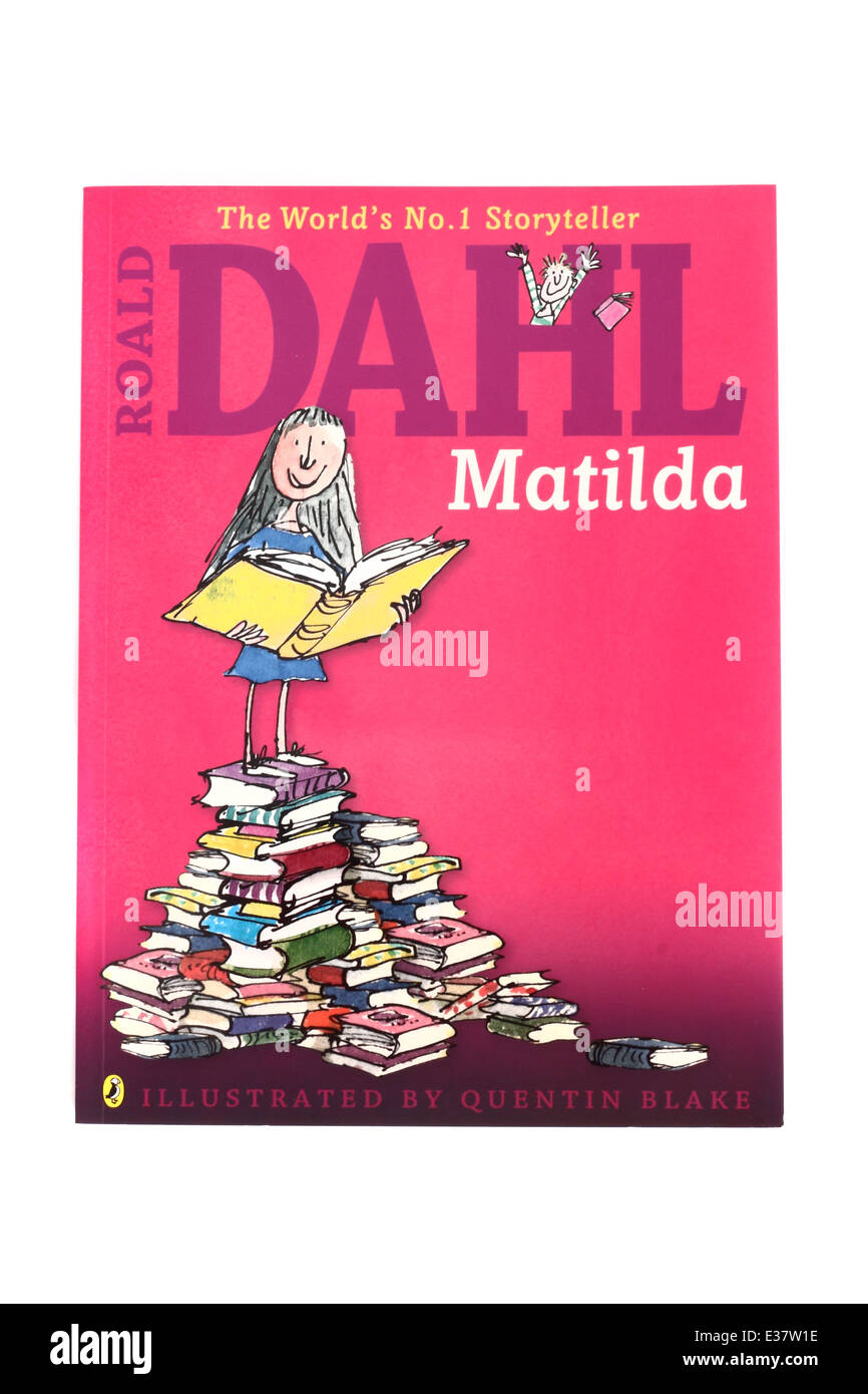 Matilda, a children's book by Roald Dahl - Stock Image