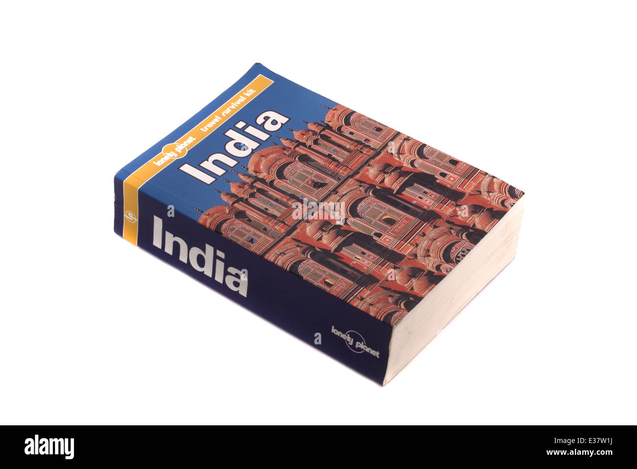 A Lonely Planet travel guide to India. - Stock Image