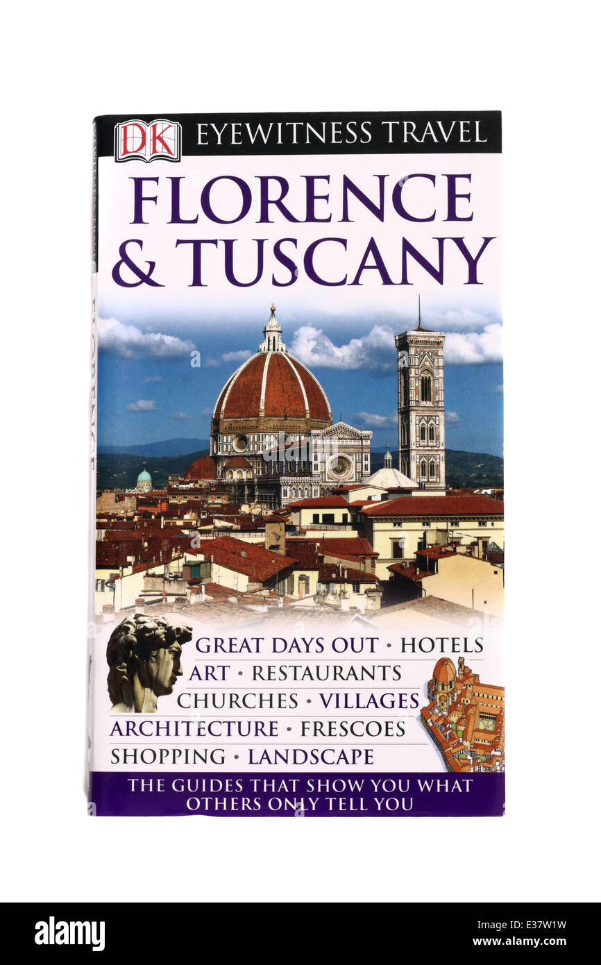 An Eyewitness Travel guide to Florence and Tuscany - Stock Image