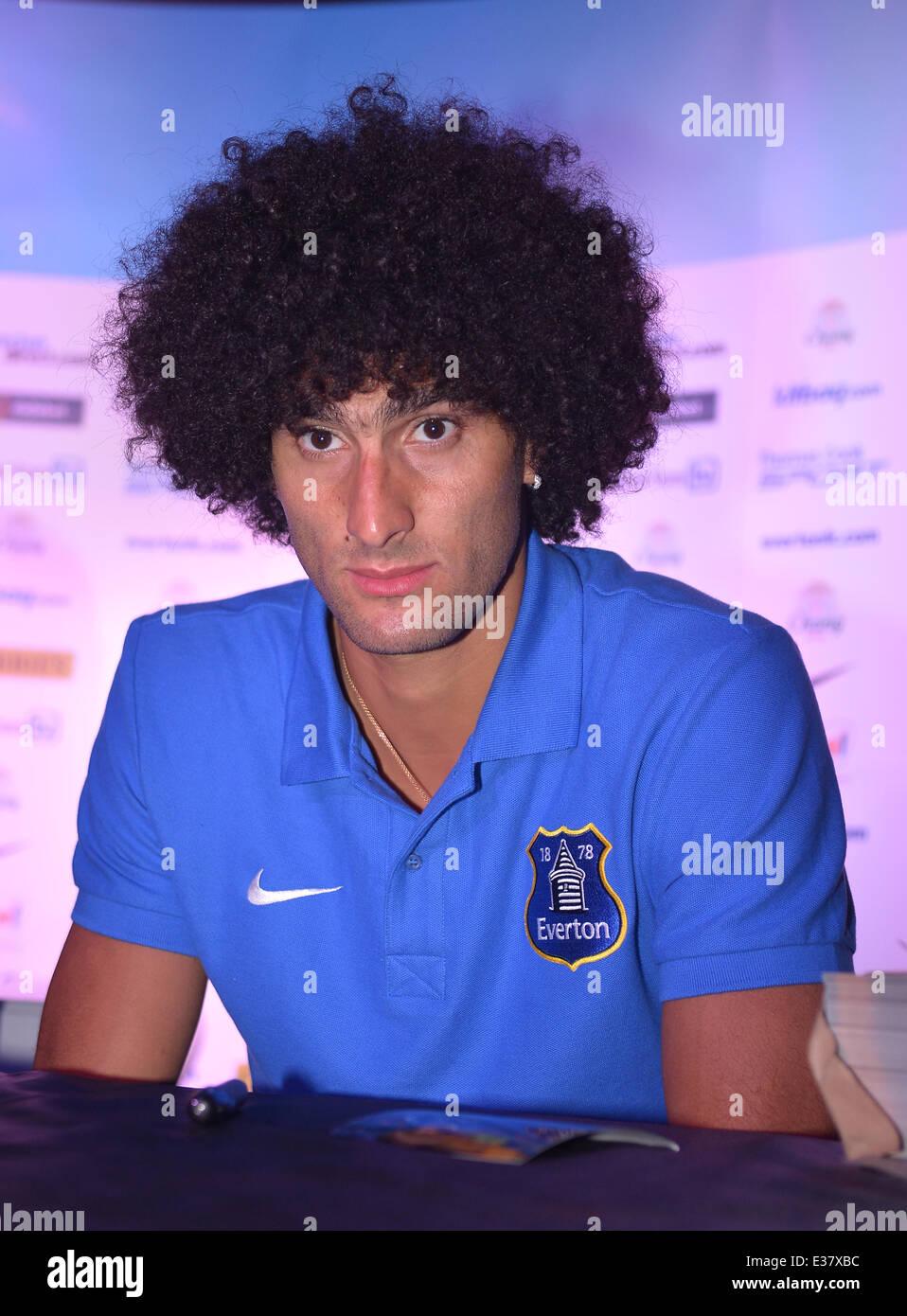 Everton Football Club meet and greet in Miami  Featuring: Marouane Fellaini Bakkioui Where: Miami Beach, Florida, - Stock Image