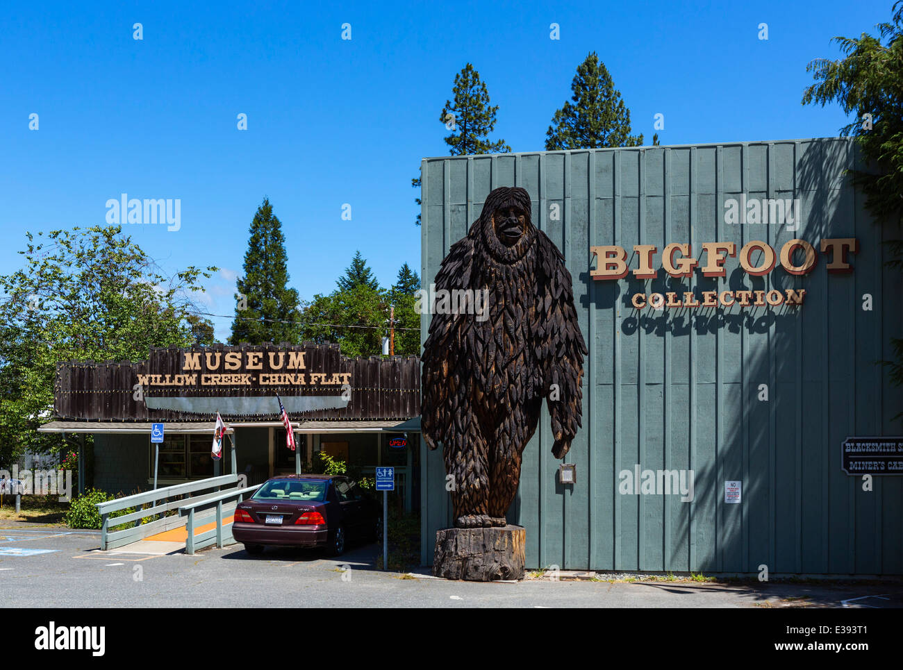 Bigfoot Museum in Willow Creek, Northern California, USA - Stock Image