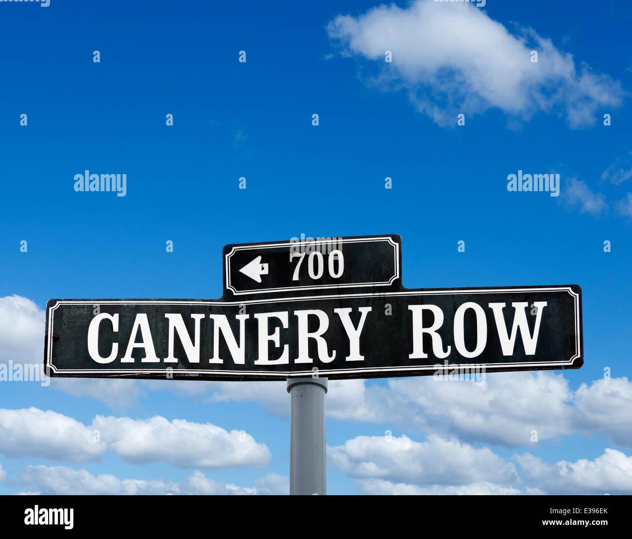 Cannery Row street sign, Monterey, California, USA - Stock Image
